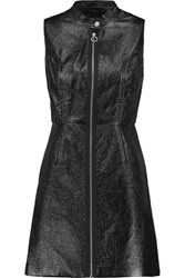 Marc By Marc Jacobs Coated Textured Cotton Blend Mini Dress Black