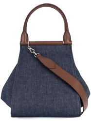 Max Mara Denim Shopper Blue