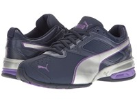 Puma Tazon 6 Fm Peacoat Silver Electric Purple Women's Shoes Blue