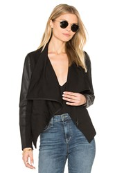 David Lerner Asymmetrical Draped Blazer Black
