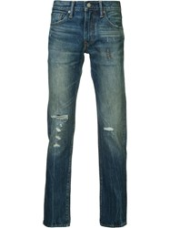 Levi's Ripped Slim Fit Jeans Blue