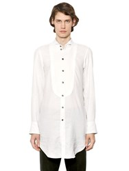 Ann Demeulemeester Long Cotton Gauze Shirt With Plastron