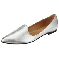 John Lewis Helina Pointed Toe Loafers Silver