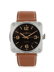 Bell And Ross Brs 92 Steel Golden Heritage Watch Brown