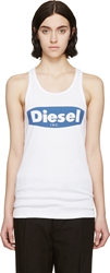 Diesel White And Blue T Merm A Tank Top