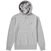 Maison Kitsune Tricolour Fox Patch Popover Hoody Grey