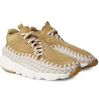 Nikelab Air Footscape Woven Chukka Faux Suede And Neoprene Sneakers Saffron