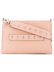 Red Valentino Star Studded Shoulder Bag Women Calf Leather One Size Nude Neutrals