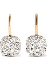 Pomellato Nudo 18 Karat Rose And White Gold Diamond Earrings Rose Gold