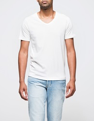 Merz B. Schwanen Army Shirt V Neck White