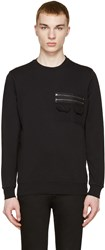 Diesel Black Gold Black Zip Pocket Pullover