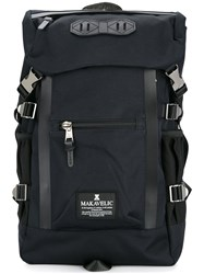 Makavelic Double Line Backpack Polyester Blue