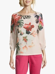 Betty Barclay Floral Print Top Rose Apricot