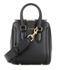 Alexander Mcqueen Small Heroine Leather Crossbody Bag Black