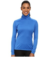 Hot Chillys Peach Roll T Neck Vivid Blue Women's Long Sleeve Pullover