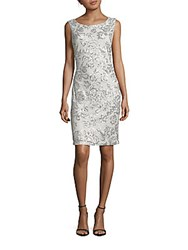 Calvin Klein Sequined Sleeveless Dress Pumice