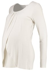 Mama Licious Mllonni Iris Long Sleeved Top Antique White Off White