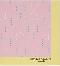 Richard James Polka Dot Silk Pocket Square Pink