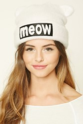 Forever 21 Meow Fuzzy Knit Beanie