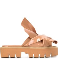 No21 No21 X Kartell 'Knot' Sandals Nude And Neutrals