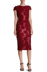 Dress The Population Women's Sequin Stretch Midi
