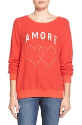 Wildfox Couture Women's Wildfox 'Baggy Beach Jumper Amore' Pullover