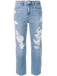 Tommy Hilfiger Slim Fit Cropped Jeans Blue