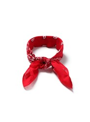 Topman Red And White Printed Bandana