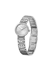 Fendi Forever Ff Motif Watch Silver