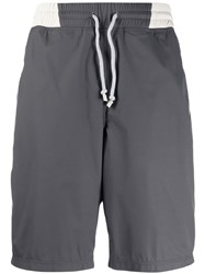 Brunello Cucinelli Knee High Swim Shorts Grey