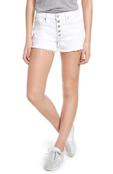 Hudson Jeans Zoeey Button Fly High Waist Denim Shorts White