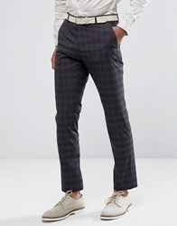 Selected Homme Slim Suit Pant In Check Blue