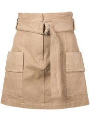 A.L.C. High Waisted Mini Skirt Brown