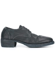 Guidi Distressed Derby Shoes Blue