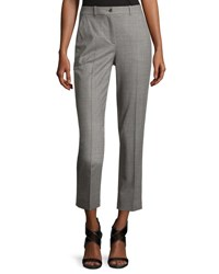 Michael Kors Sam Cropped Stretch Wool Pants Gray