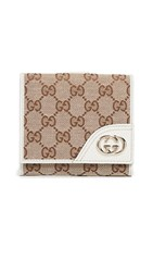 Wgaca What Goes Around Comes Around Gucci Canvas Compact Wallet White