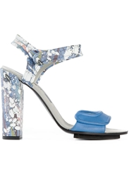 Golden Goose Deluxe Brand Splatter Print Sandals Blue
