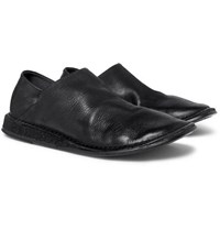 Marsell Stag Collapsible Heel Leather Loafers Black