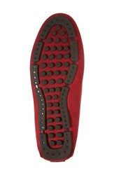 The Rail Scottsdale Perforated Driving Moccasin Red Suede