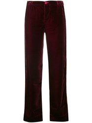 F.R.S For Restless Sleepers Straight Leg Trousers Red