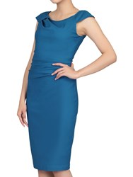 Jolie Moi Ruched 40S Wiggle Dress Teal
