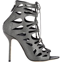 Tech Suede Cutout Demie Booties Gray