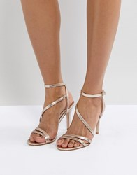 Faith Delly Rose Gold Heeled Sandals Rose Gold