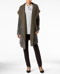 Rachel Roy Plaid Sweater Coat Spruce Combo
