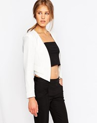 Closet Jacket With Faux Pockets Ivory White