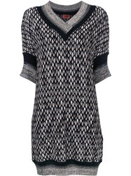 Missoni V Neck Sweater Dress Black