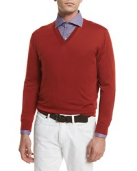 Ermenegildo Zegna High Performance Wool Sweater Orange