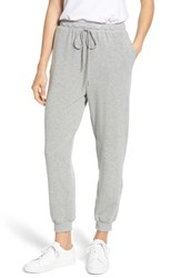 Caslon Off Duty Jogger Pants Grey Heather