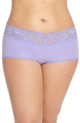 Plus Size Women's Cosabella 'Never Say Never' Low Rise Boyshorts Purple Sky
