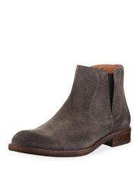 John Varvatos Waverly Suede Chelsea Boot Gray